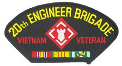 20th Engineer Brigade Vietnam Veteran Patches